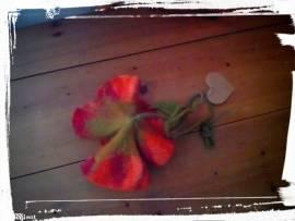 Filz Blüte groß  - Bild vergrößern