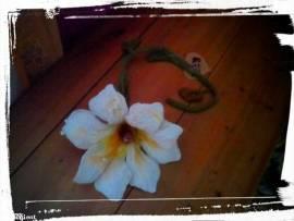 Filz Blüte groß Margerite  - Bild vergrößern